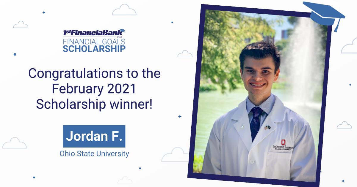 February Scholarship Winner Jordan