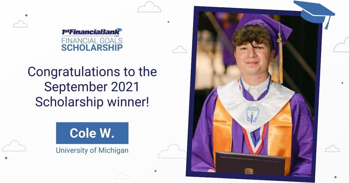 Scholarship Winner Featured Image- September 2021
